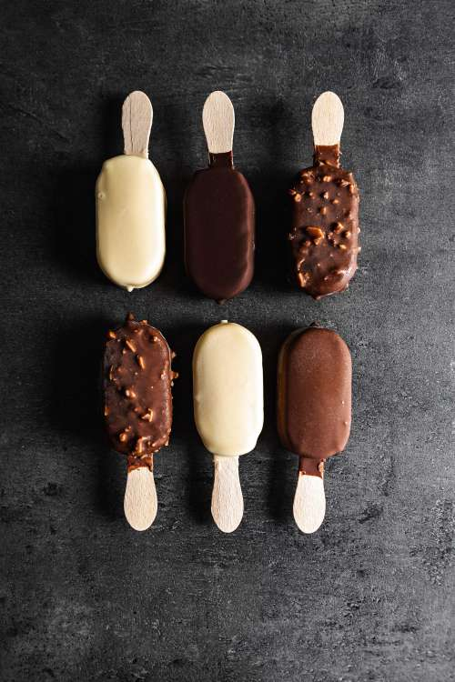Different Kinds of Chocolate Ice Lollies Free Photo