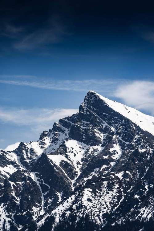 Tremendous Krivan Mountain Peak, Slovakia Free Photo
