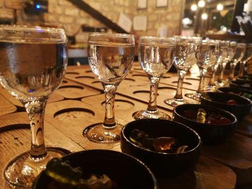 Glass Water A Toast Night Bar Restaurant Kitchen