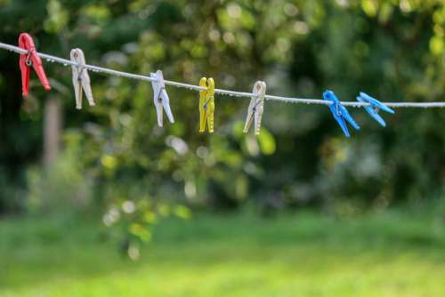 Clothespins Clothes Line Rope Wash Dry Clamp