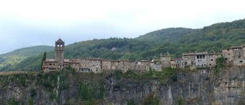 Volcanism Basalt Landscape Catalunya Garrotxa