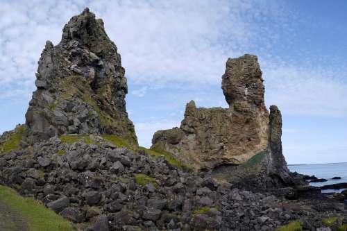 Sea The Sky Rocks Nature Summer Coast Country