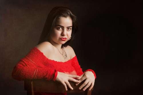 Girl Model Portrait Makeup Facial Beauty Elegance