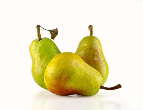 Three Pears Fruit Pear Healthy Food Fresh
