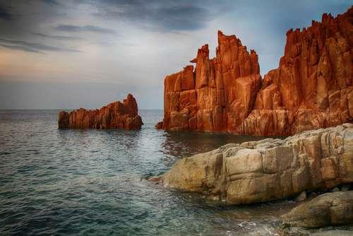 Arbatax Rocks Rossi Sea Sunset Meditation Sky