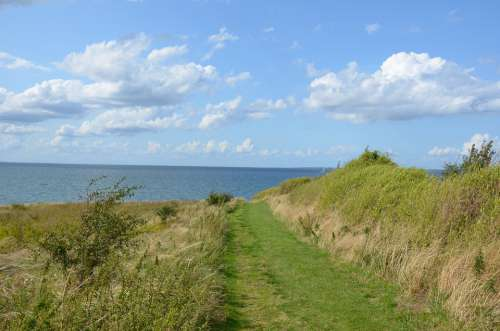 Baltic Sea Denmark Island Aero Nature Landscape