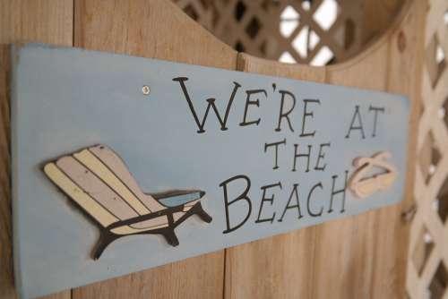 Beach Sea Shield Deck Chair Vacations Summer