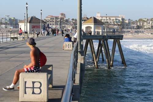 Beach Huntington Beach California Huntington Wave