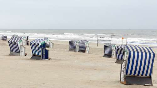 Beach Chair Norderney North Sea Vacations Sea