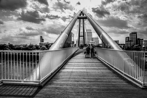 Bridge Germany Düsseldorf Photo Course Gehrybauten