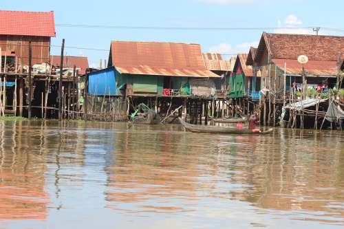 Cambodia Water River Lifestyle