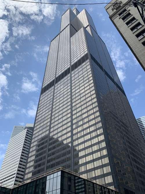 Chicago Illinois Sears Downtown City Urban