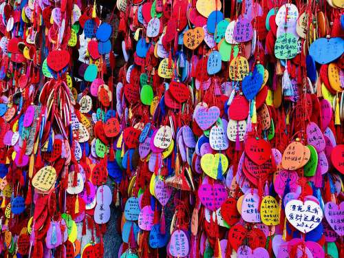 China Colors Decoration Colorful Love