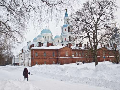 Church Cathedral Winter Landscape Building