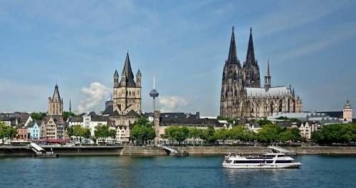 Cologne Dom Skyline Rhine Germany Landmark