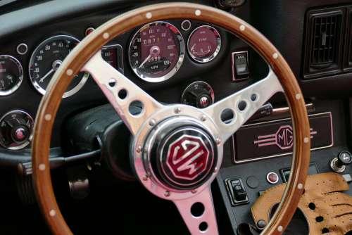 Dashboard Mg Steering Wood Steering Wheel Auto