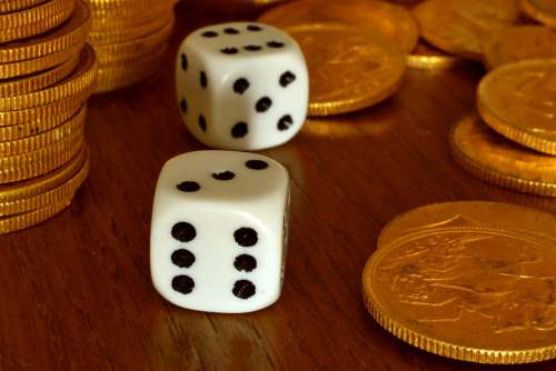 Dice Gambling Gold Pounds Game Luck Casino Play