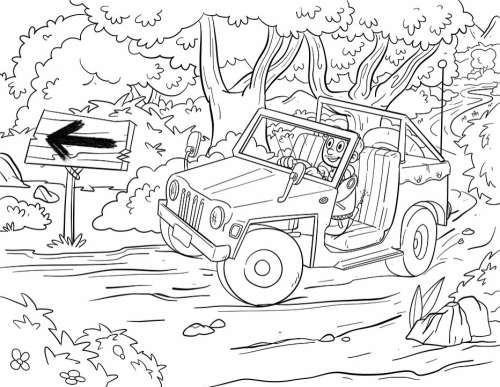 Drawing Auto All Terrain Vehicle All-Terrain Car