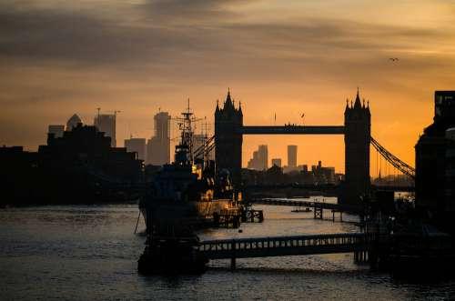 Dusk Towerbridge Bridge London City Travel