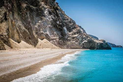 Greece Islands Sea Nature Egremni Lefkada Tourism