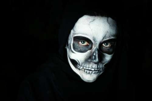 Halloween Make Up Scary Skull Dark Creepy