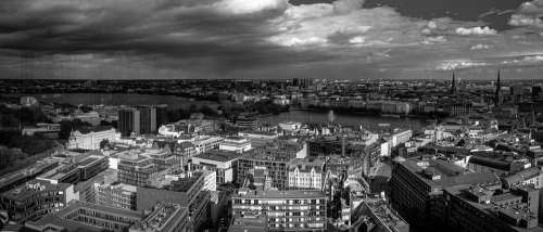 Hamburg Panorama Elbe Travel Architecture City