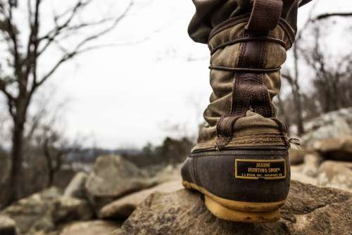 Hiking Boot Outdoor Nature Adventure Travel