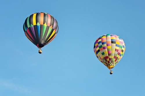 Hot Air Balloons Colorful Balloon Floating