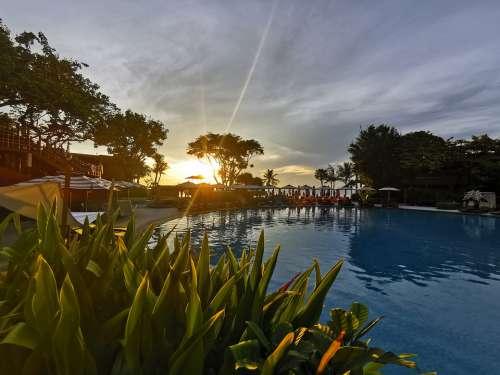 Hua Hin Morning Sunset Pool Sunrise Thailand