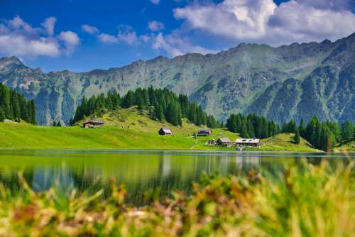 Landscape Bergsee Nature Water Hiking