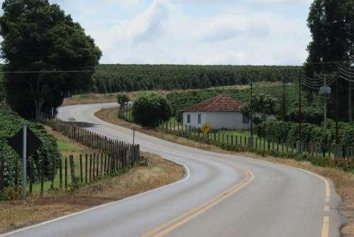 Landscape Road Trip Highway Freedom Destiny