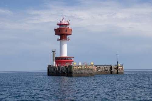 Lighthouse Lighthouse Island Navigation Coast Sea