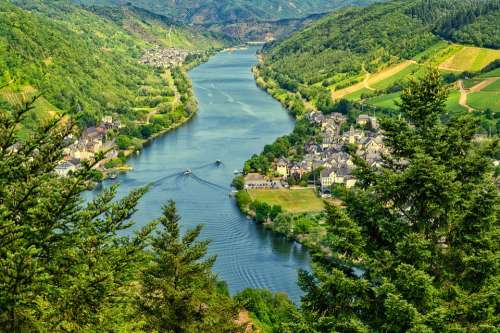 Mosel View River Vineyards Sachsen Germany