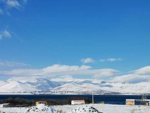 Mountains Armenia Winter Sky