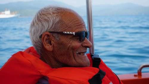 Old Man Elderly Person Male Landscape Sea