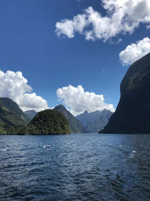 Overseas Travel New Zealand Nature Mountain Fjord