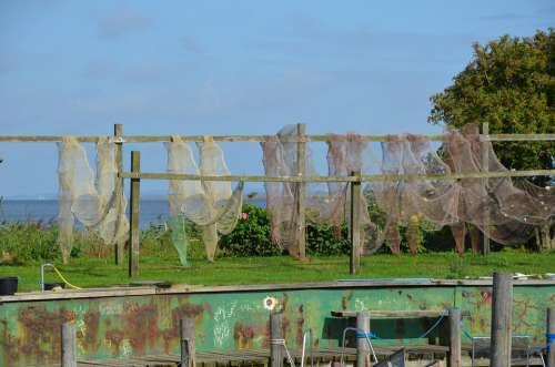Reuse Fishing Nets Port Baltic Sea Denmark Fishing