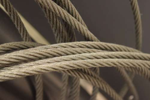 Rope Metal Steel Iron Design Construction Cable