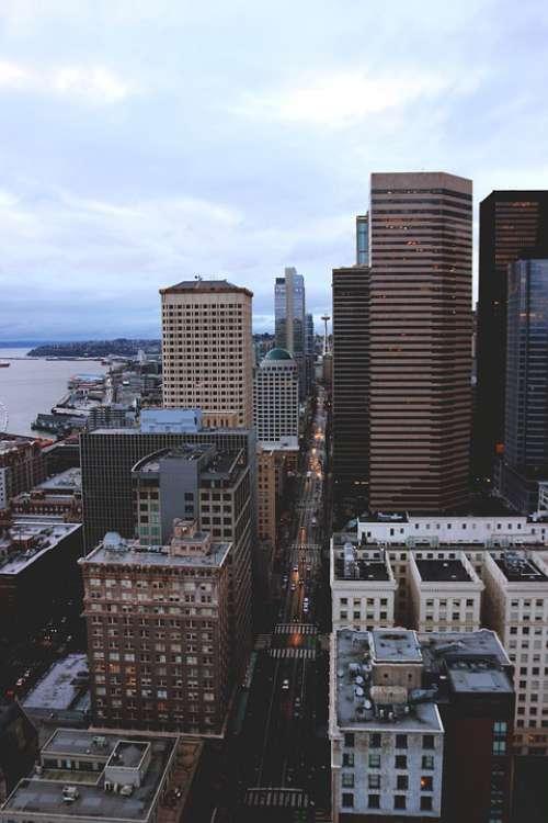 Seattle City Skyline Washington Cityscape Urban