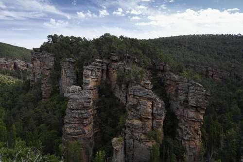 Sickle Cannon Rocks Landscape River Geology Stone