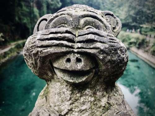 Statue Mono Figure Chimpanzee Hinduism Religion
