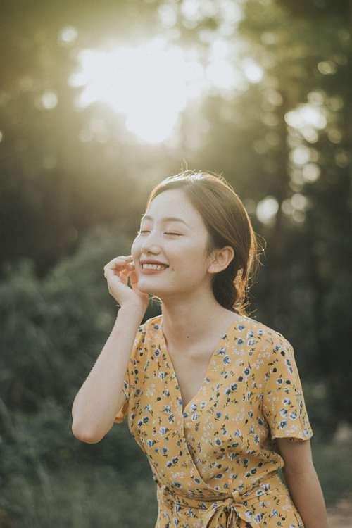 Sunny Girl Happy Female