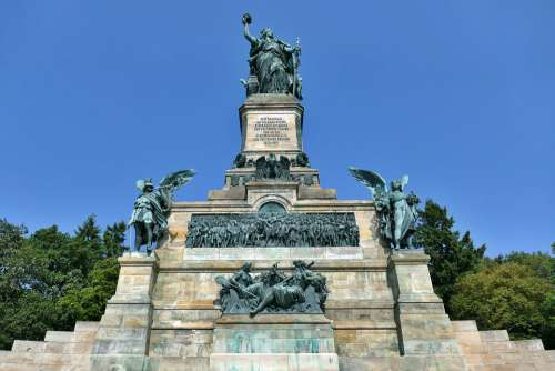 The Niederwalddenkmal Germania Statue Rüdesheim