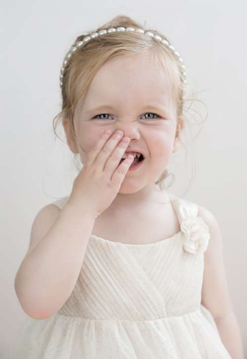 Toddler Girl Laugh Blue Eyes Cute Child