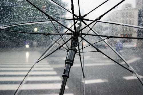 Umbrella Rain Cold Wet Weather Urban Raindrop