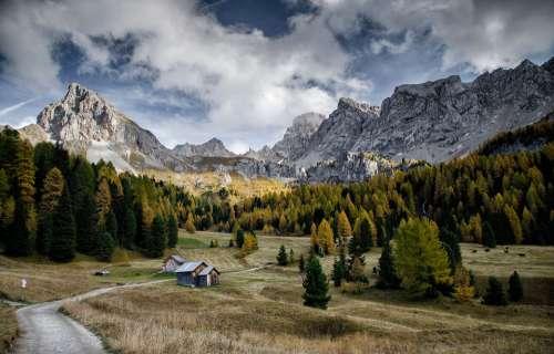 Val Di Fassa Mountain Dolomites Nature Landscape