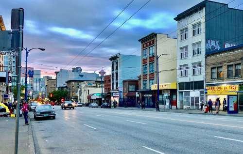 Vancouver British Columbia Street City Urban