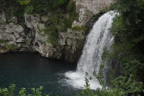 Waterfall Nature Landscape Scenery