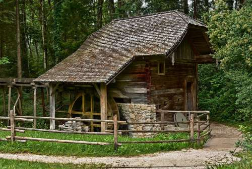 Watermill Building Old Open Air Museum Austria