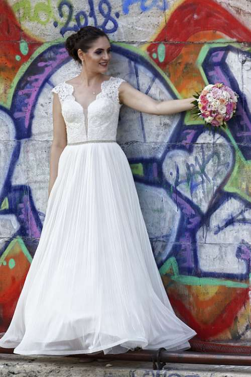 Woman Young Bride Girl The Person Beauty Dress